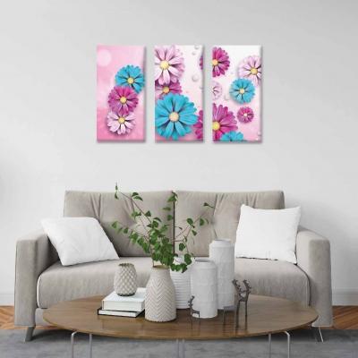 Flores - 3 módulos - 90 x 60cm - Modelo: CDM_008