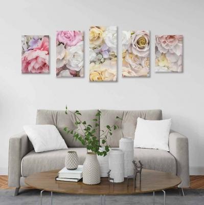 Rosas - 5 módulos - 100 x 60cm - Modelo: CDM_004