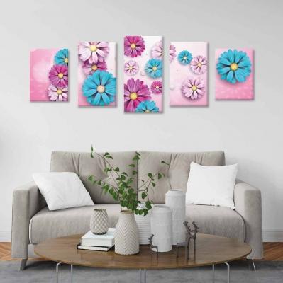 Flores - 5 módulos - 150 x 60cm - Modelo: CDM_008
