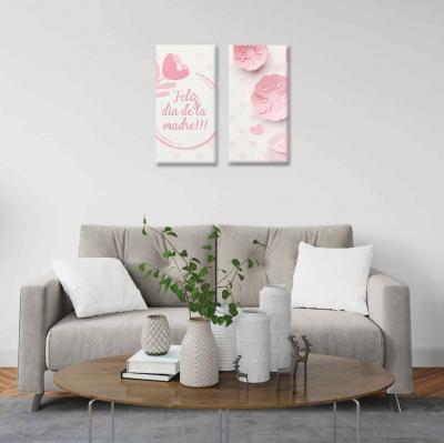 Flores de Papel - 2 módulos - 60 x 60cm - Modelo: CDM_009