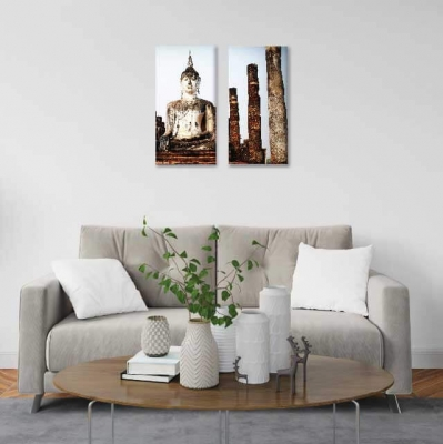 Buda en ruinas - 2 módulos - 40 x 60cm- Modelo: CBD_002