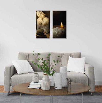 Buda en piedra - 2 módulos - 40 x 60cm- Modelo: CBD_003