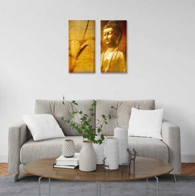 Buda en lienzo - 2 módulos - 60 x 60cm - Modelo: CBD_006