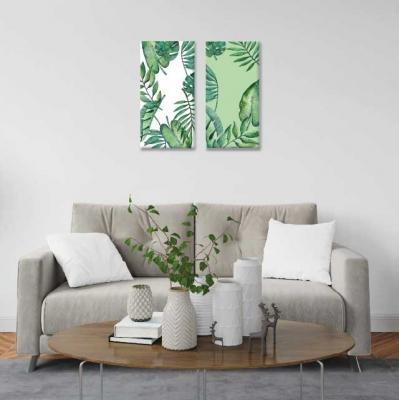 Hojas verdes - 2 módulos - 40 x 60cm- Modelo: CH_001