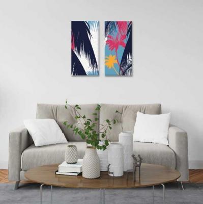 Stencil palmeras - 2 módulos - 40 x 60cm- Modelo: CH_005