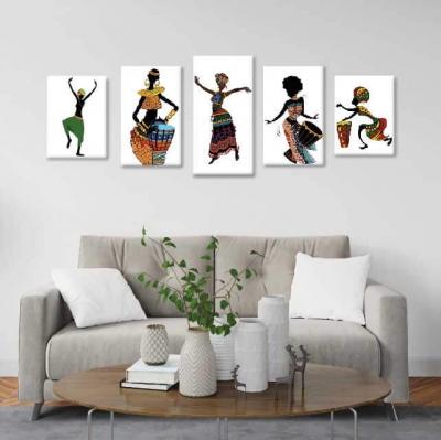 Africanas con música - 5 módulos - 100 x 60cm - Modelo: CAF_004