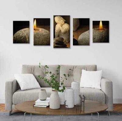 Buda en piedras - 5 módulos - 100 x 60cm - Modelo: CBD_003