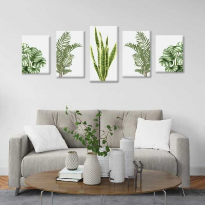 Plantas - 5 módulos - 100 x 60cm - Modelo: CH_004