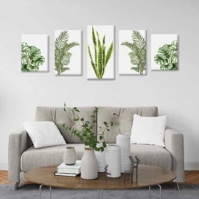 Plantas - 5 módulos - 150 x 60cm - Modelo: CH_004