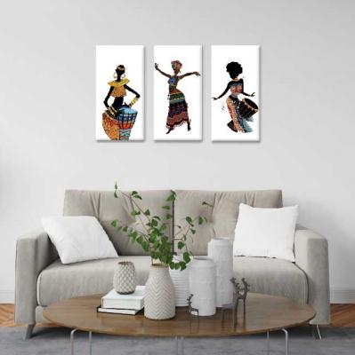 Africanas bailando -  3 módulos - 60 x 60cm - Modelo: CAF_004