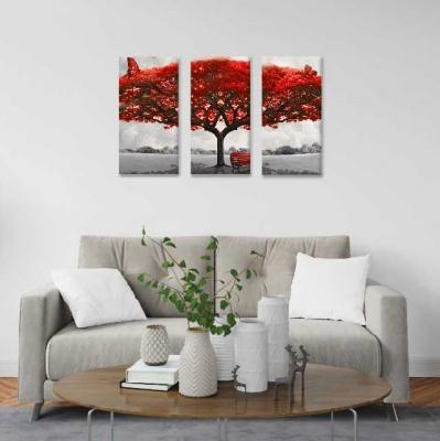 Árbol de la vida rojo - 3 módulos - 90 x 60cm - Modelo: CAR_001