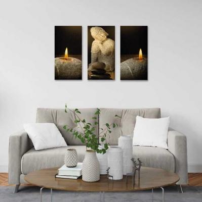 Buda con velas -  3 módulos - 60 x 60cm - Modelo: CBD_003