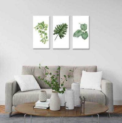 Hojas y plantas -  3 módulos - 60 x 60cm - Modelo: CH_002