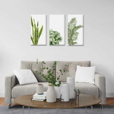 Plantas -  3 módulos - 60 x 60cm - Modelo: CH_004