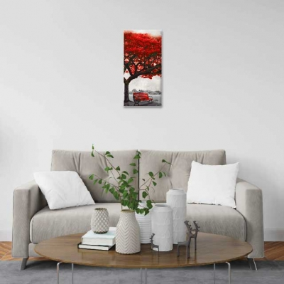 Árbol de la vida Rojo - 1 módulo - 30 x 60cm- Modelo: CAR_001