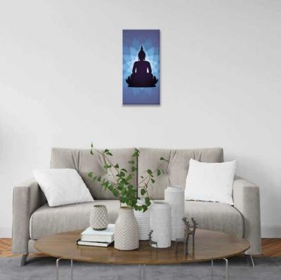 Buda y aura de mándala - 1 módulo - 30 x 60cm- Modelo: CBD_001