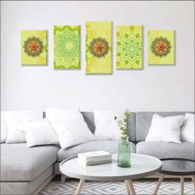 Mándalas verdes - 5 módulos - 100 x 60cm - Modelo: CMDL_005