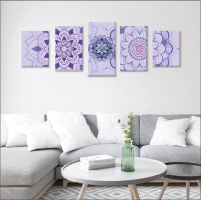 Mándalas violetas - 5 módulos - 150 x 60cm - Modelo: CMDL_003
