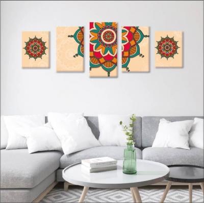 Mándalas de colores  - 5 módulos - 150 x 60cm - Modelo: CMDL_004