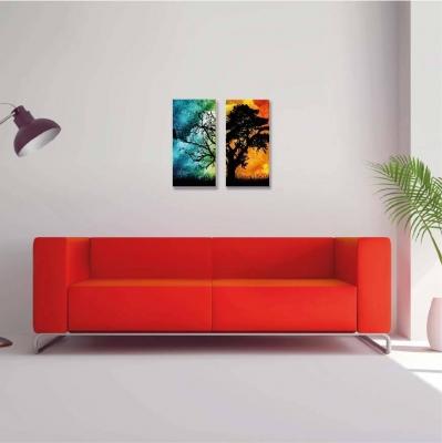 Árbol de la vida multicolor - 2 módulos - 40 x 60cm- Modelo: CAR_006