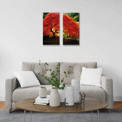 Árbol de la vida Naranja - 2 módulos - 40 x 60cm- Modelo: CAR_013