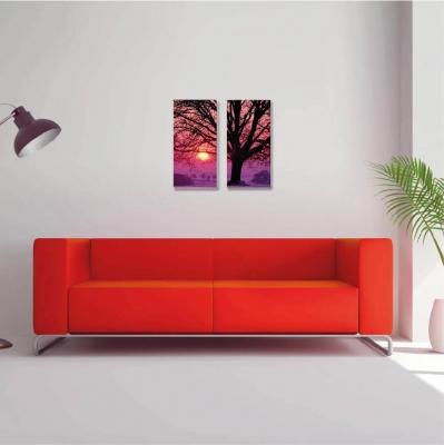 Árbol de la vida con atardecer - 2 módulos - 40 x 60cm- Modelo: CAR_014