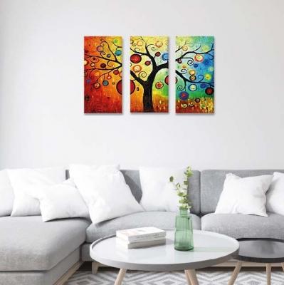 Árbol de la vida con colores -  3 módulos - 60 x 60cm - Modelo: CAR_008