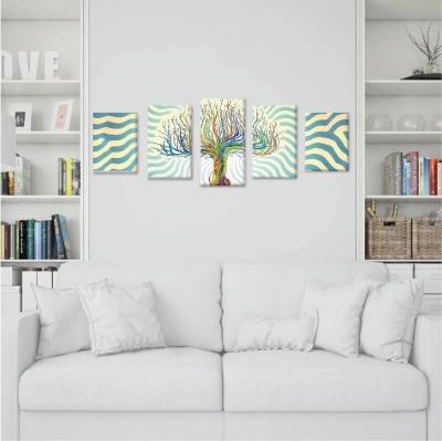 Árbol de la vida con colores - 5 módulos - 100 x 60cm - Modelo: CAR_007