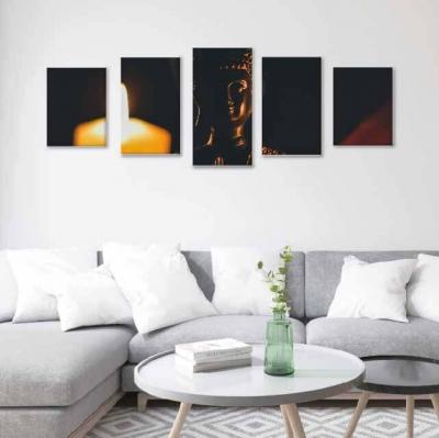 Buda con velas - 5 módulos - 150 x 60cm - Modelo: CBD_009