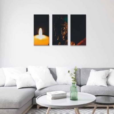Buda con velas - 3 módulos - 60 x 60cm - Modelo: CBD_009
