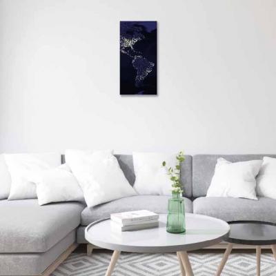 Mapamundi con luces - 1 módulo - 30 x 60cm- Modelo: MAPAS_003