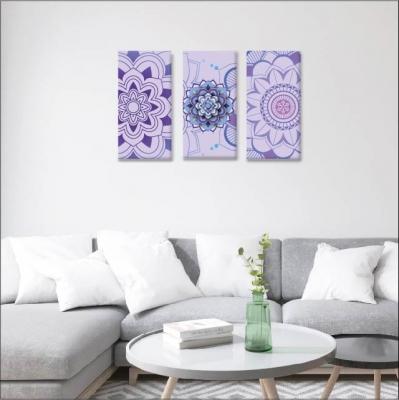 Mándalas y violetas - 3 módulos - 90 x 60cm - Modelo: CMDL_003