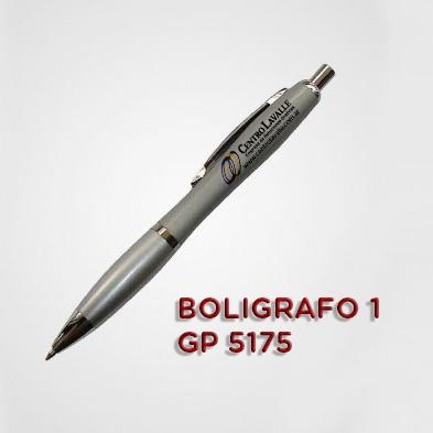 BOLÍGRAFO GRIS CON LOGO GP5175  - 100 UNIDADES
