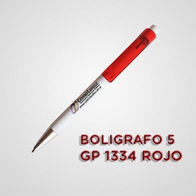 BOLÍGRAFO ROJO CON LOGO 1334 - 100 UNIDADES